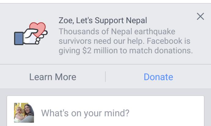 Facebook help Nepal
