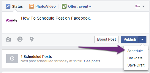 How to write an up arrow on facebook
