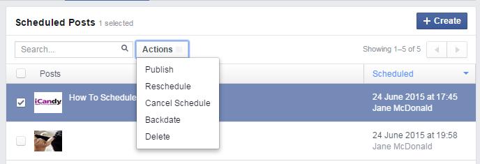schedule post 5